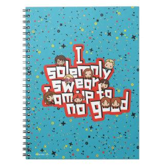 "Cartoon ""I solemnly swear"" Graphic Notebooks"