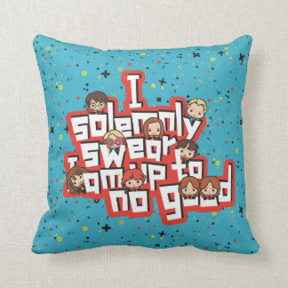 """Cartoon """"I solemnly swear"""" Graphic Throw Pillow"""