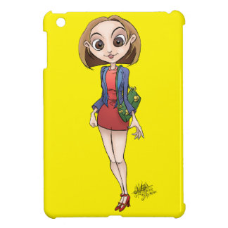 Cartoon illustration of a beautiful Asian woman. iPad Mini Cases