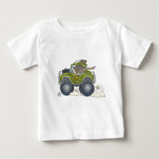 Cartoon illustration of a Elephant driving a jeep. Baby T-Shirt