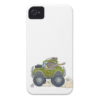 Cartoon illustration of a Elephant driving a jeep. Case-Mate iPhone 4 Case