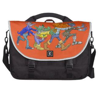Cartoon illustration of a Halloween congo, bags. Commuter Bag