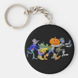 Cartoon illustration of a Halloween congo. Basic Round Button Keychain