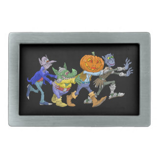 Cartoon illustration of a Halloween congo. Belt Buckles