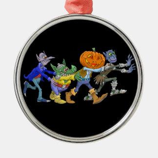 Cartoon illustration of a Halloween congo. Metal Ornament