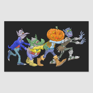 Cartoon illustration of a Halloween congo. Sticker