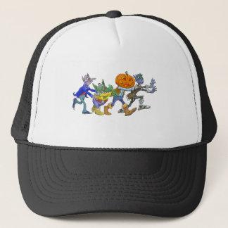 Cartoon illustration of a Halloween congo. Trucker Hat