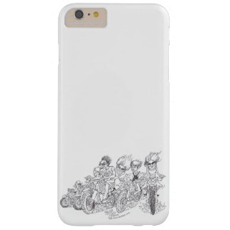 Cartoon illustration of a people on motorbikes. barely there iPhone 6 plus case