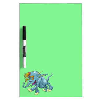 Cartoon illustration, of a running creature. Dry-Erase whiteboards