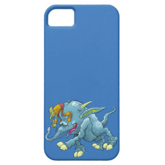 Cartoon illustration, of a running creature. iPhone 5 covers