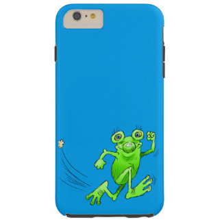 Cartoon illustration of a running frog. tough iPhone 6 plus case