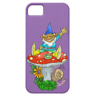 Cartoon illustration of a Waving sitting gnome. iPhone 5 Cover