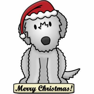 Cartoon Irish Wolfhound Christmas Ornament Photo Sculpture Ornament