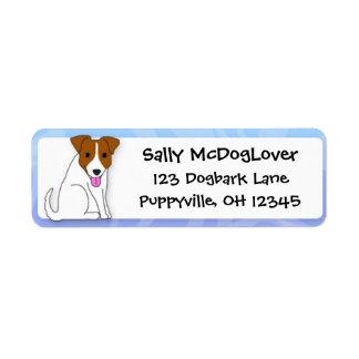 Cartoon Jack Russell Terrier Return Address Label