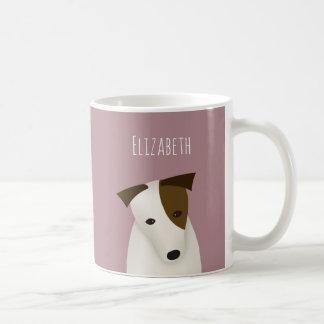 cartoon Jack Russell Terrier w head tilt Coffee Mug