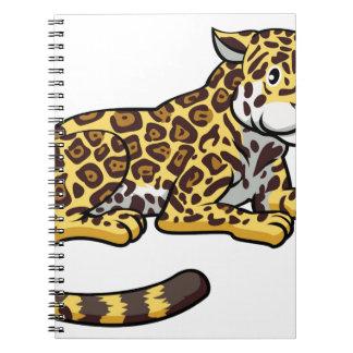 Cartoon Jaguar Cat Note Books