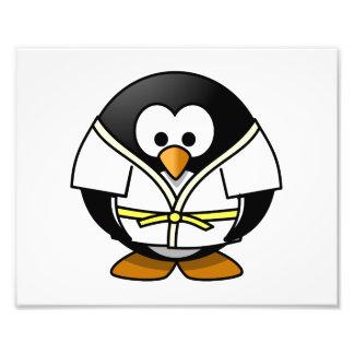 Cartoon Judo Penguin Photo Print