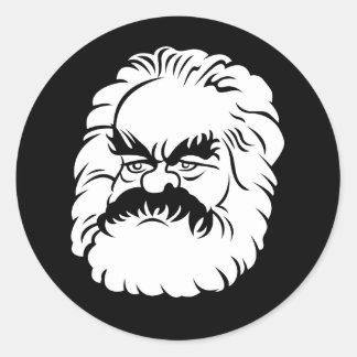 Cartoon Karl Marx Sticker (Black)