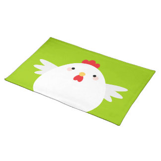 Cartoon Kawaii Chicken Placemat