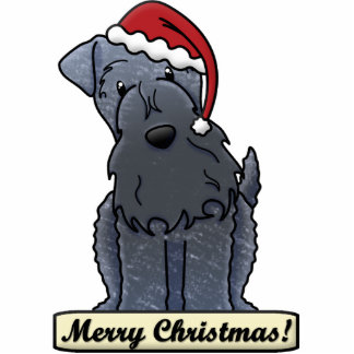 Cartoon Kerry Blue Terrier Christmas Ornament Photo Sculpture Ornament