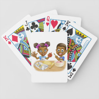Cartoon Kid Bakers Cooking Bicycle Playing Cards