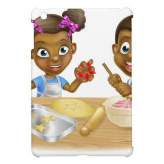 Cartoon Kid Bakers Cooking iPad Mini Cover