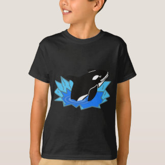 Cartoon Killer Whale/Orca Leaping Out of the Water T-Shirt