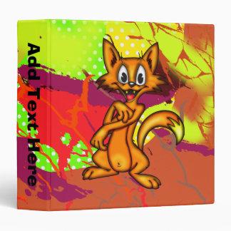 Cartoon Kitten Avery Binder