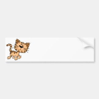 Cartoon Kitty Bumper Sticker