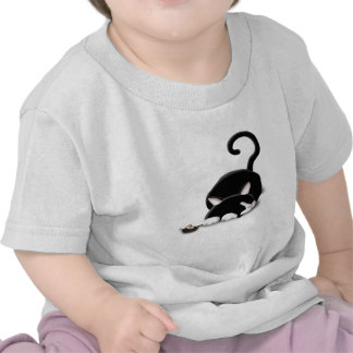 Cartoon Kitty with toy mouse Shirts
