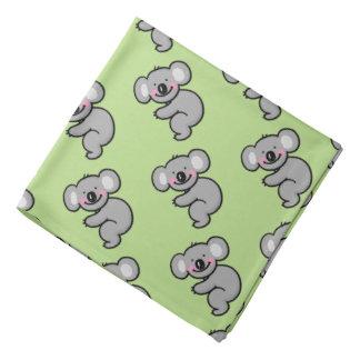 cartoon koala bear pattern bandana