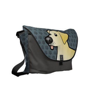 Cartoon Labrador Retriever Commuter Bag