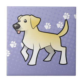 Cartoon Labrador Retriever Tile
