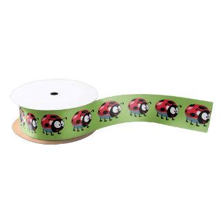 cartoon ladybird satin ribbon