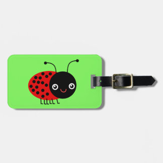 Cartoon Ladybug, also known as Ladybird Luggage Tag
