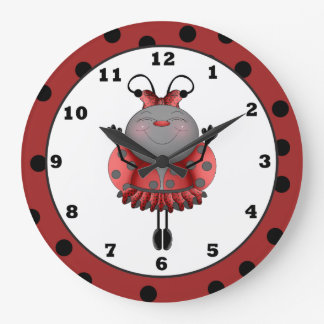 Cartoon Ladybug fun wall clock