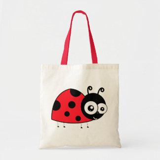 Cartoon Ladybug Tote Bag
