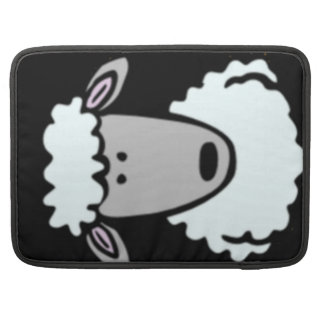Cartoon Lamb Face Sleeve For MacBooks