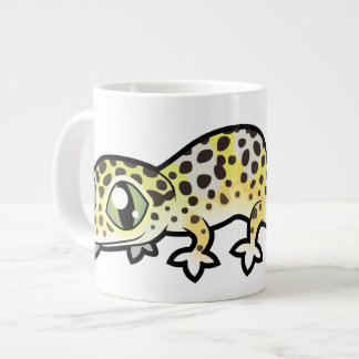Cartoon Leopard Gecko Giant Coffee Mug