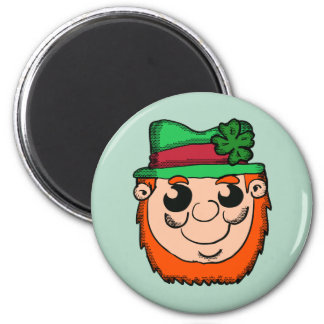 Cartoon Leprechaun Head Magnet