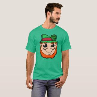 Cartoon Leprechaun Head T-Shirt