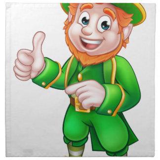 Cartoon Leprechaun St Patricks Day Character Napkin