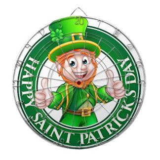 Cartoon Leprechaun St Patricks Day Sign Dartboard