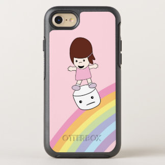 Cartoon Lesley on Rainbow w Marshmallow Otterbox OtterBox Symmetry iPhone 8/7 Case