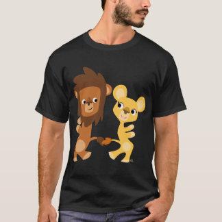 Cartoon Lion and Lioness  dancing T-shirt