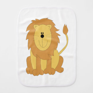 Cartoon Lion Burp Cloth
