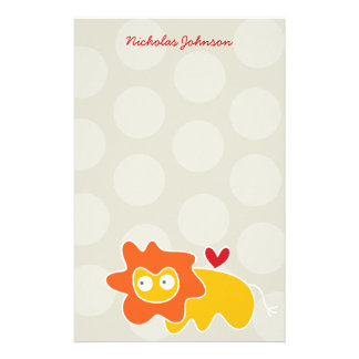 Cartoon Lion Kid Personal / Thank You Stationery