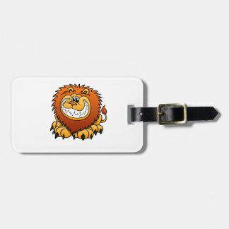 Cartoon Lion Luggage Tag