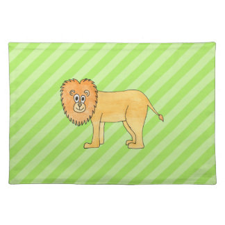 Cartoon Lion. Placemat