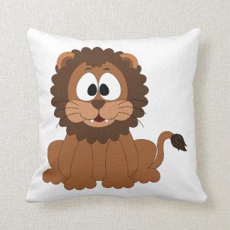 Cartoon Lion Throw Pillow